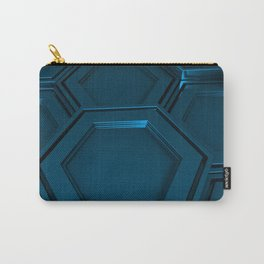 Honeycomb pattern of metallic hexagons Carry-All Pouch