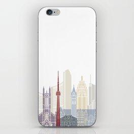 Toronto skyline poster iPhone Skin