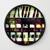 glass Wall Clocks featuring Glass by Anna Brunk