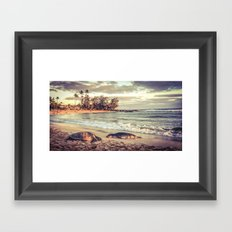 Beach Friends Framed Art Print