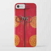 buddhism iPhone & iPod Cases featuring Temple Door by Maria Heyens