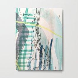 MAPPED WATERS Metal Print