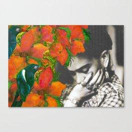 Tribute to Frida Kahlo #40 Canvas Print