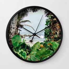 The surfer's spot in Barbados Wall Clock
