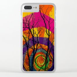 Abstract Sunset Clear iPhone Case