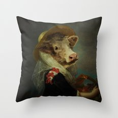 Cow #2 Throw Pillow