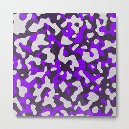 Violet Camouflage pattern Metal Print