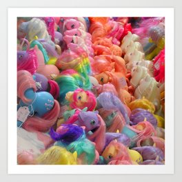 My Little Pony horse traders Art Print