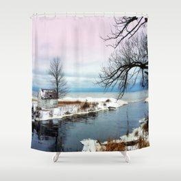 Ice Beach Shower Curtain