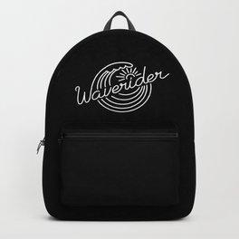 Waverider - white on black Backpack