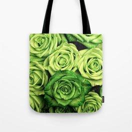 Green Roses Tote Bag