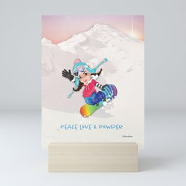 Boarder Beb - Sunset Run Mini Art Print