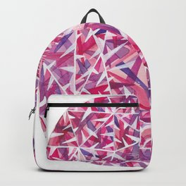 Pink Purple Cushion Gem Backpack