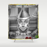 oz Shower Curtains featuring Tinman of Oz by Max Schultz
