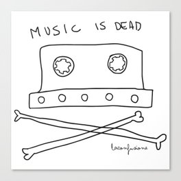 Music is dead Canvas Print