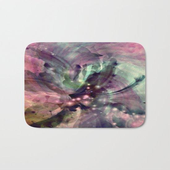 Mauve Swirl Abstract Bath Mat