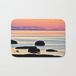 Painted Seas at Dusk Bath Mat