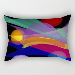 waves on black -01- Rectangular Pillow