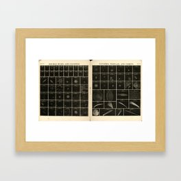 Double Stars and Clusters; Cluster, Nebulae and Comets (1856) Framed Art Print