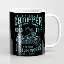 Retro Motorcycle Chopper Typography Coffee Mug