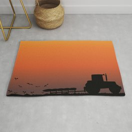 Ploughing the Field Rug