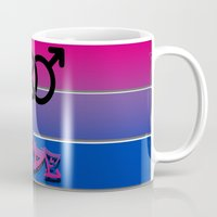 bisexual Mugs featuring Bisexual Pride! by Creature Creation Cafe