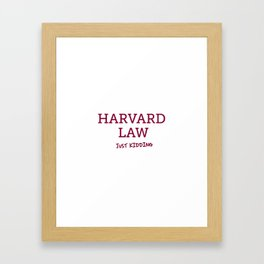 Harvard Law Framed Art Print
