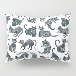 Cat Positions – Black Palette Pillow Sham