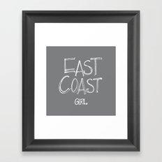 East Coast, Girl. Framed Art Print
