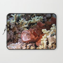 Red Scorpian Fish With Mouth Open Laptop Sleeve