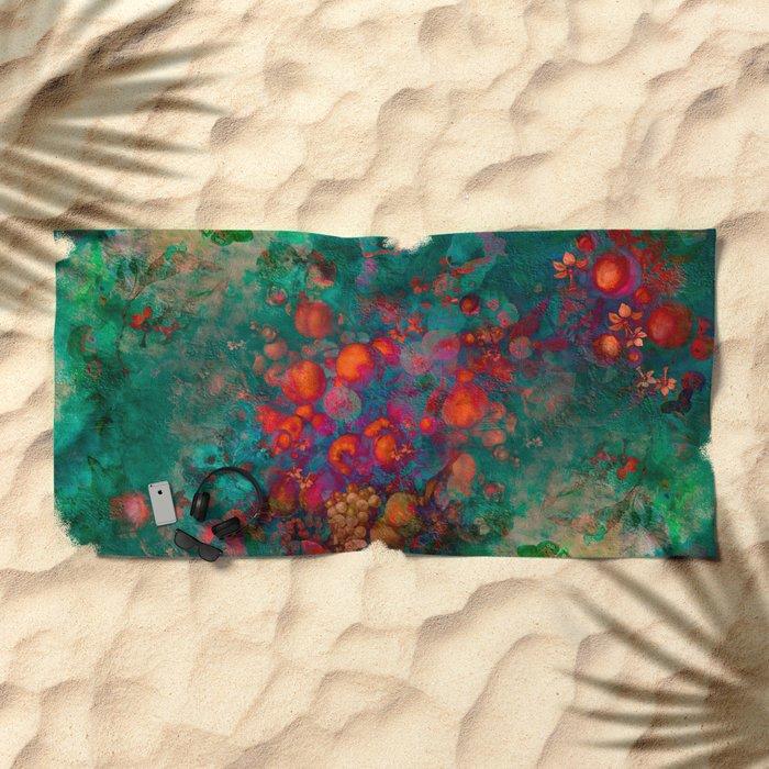 """""""Spring Pop Still Life"""" Beach Towel"""