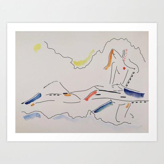 Bathe Art Print