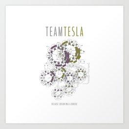 Team Tesla Art Print