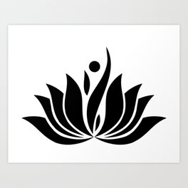 Black Logo Art Print