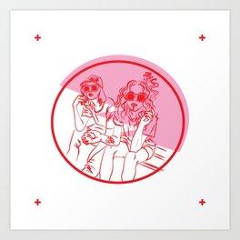 festival girls Art Print