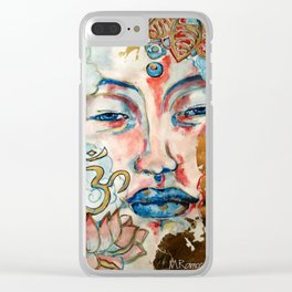 Buddah, lotus and OM Clear iPhone Case
