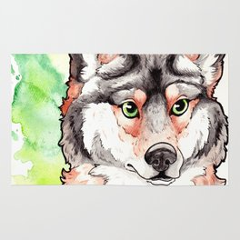 Mexican Gray Wolf Bust Rug