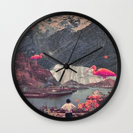My Choices left me Alone Wall Clock