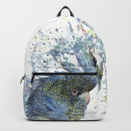 "Watercolor Painting of Picture ""Black Cockatoo"" Backpack"