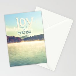 Joy Comes in The Morning Stationery Cards