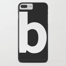 letter B (White & Black) iPhone Case