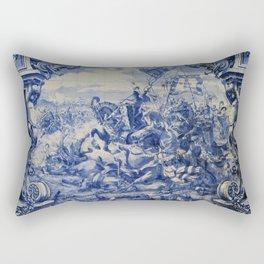 Portuguese traditional tile artwork Rectangular Pillow