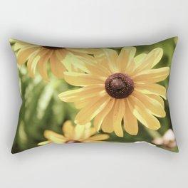 Vintage Black Eyed Susan Rectangular Pillow
