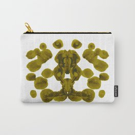 Olive Green Rorschach Test Carry-All Pouch
