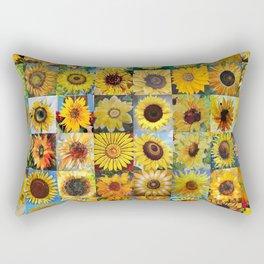 Sunflower Montage Rectangular Pillow