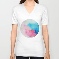 nirvana V-neck T-shirts featuring Nirvana by elena + stephann