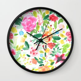 Flowers everywhere Wall Clock