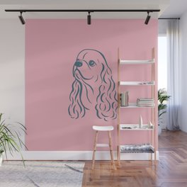 American Cocker Spaniel (Pink and Blue-Gray) Wall Mural