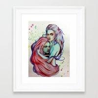 gemini Framed Art Prints featuring Gemini by Olga Noes