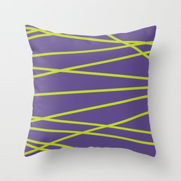 Violet Funk Throw Pillow